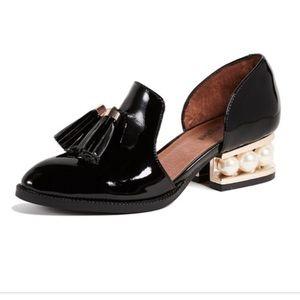 Jeffery Campbell Civil Black Patent Loafers